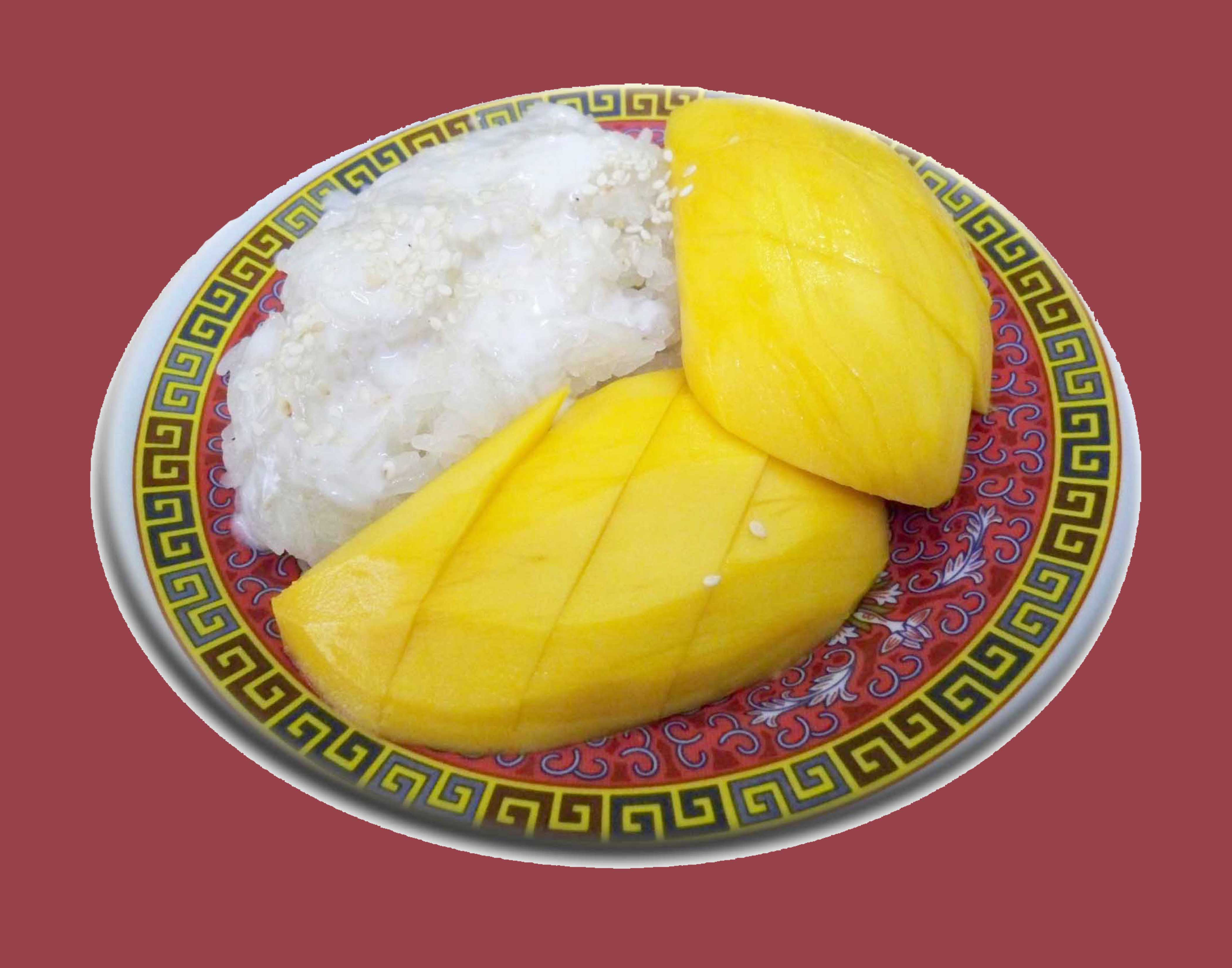 Sweet Sticky Rice with Sweet Thai mango